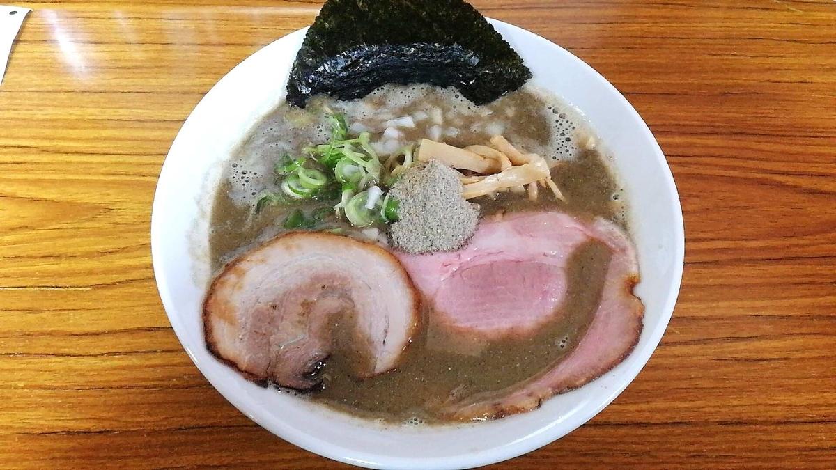 とのさきの煮干し中華そば特上!秋田県No.1の煮干かもしれません。