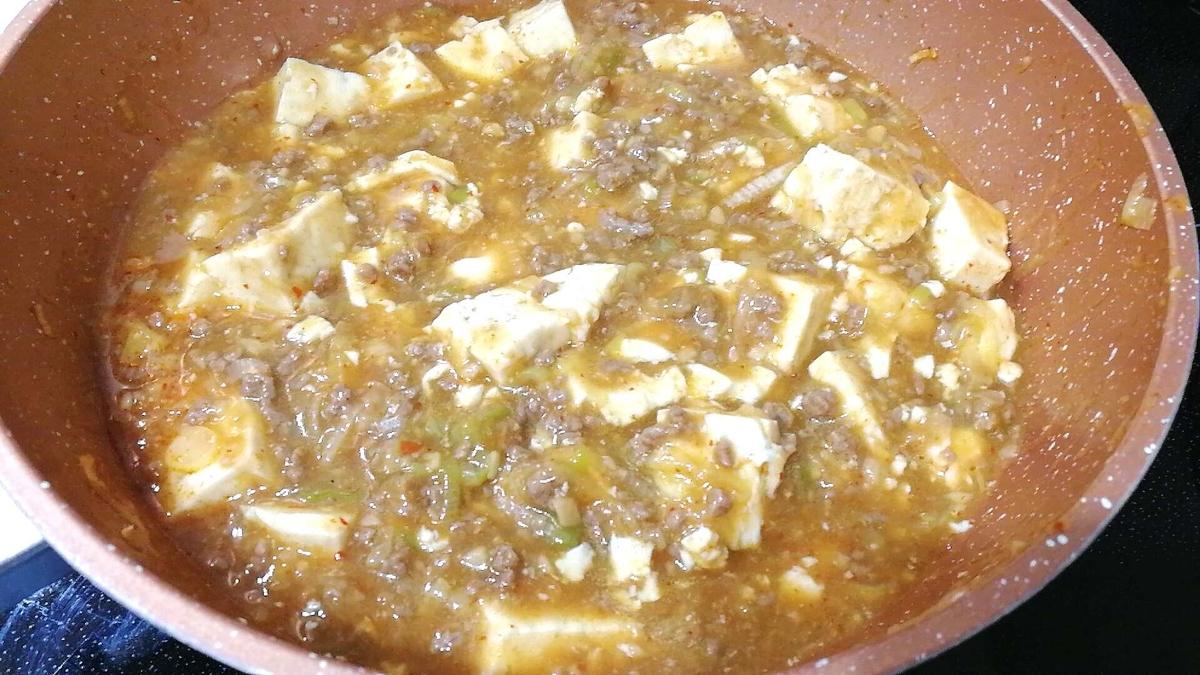 コストコのビーフパティで作る麻婆豆腐は美味しい!
