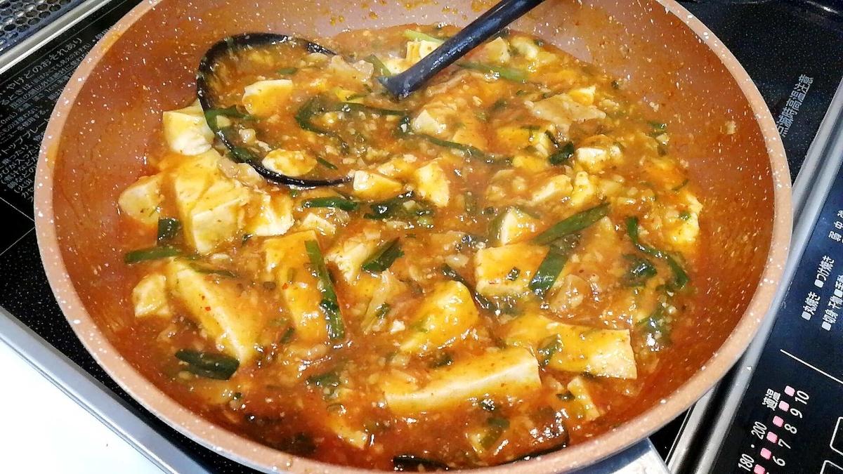 二郎系ラーメンのスープを使った麻婆豆腐が旨すぎるw