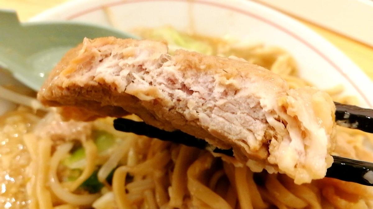 よし虎の肉!チャーシューというかステーキ。好みは分かれそう。