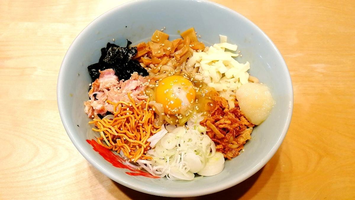 オーション麺で家二郎系まぜそばを作ってみた!