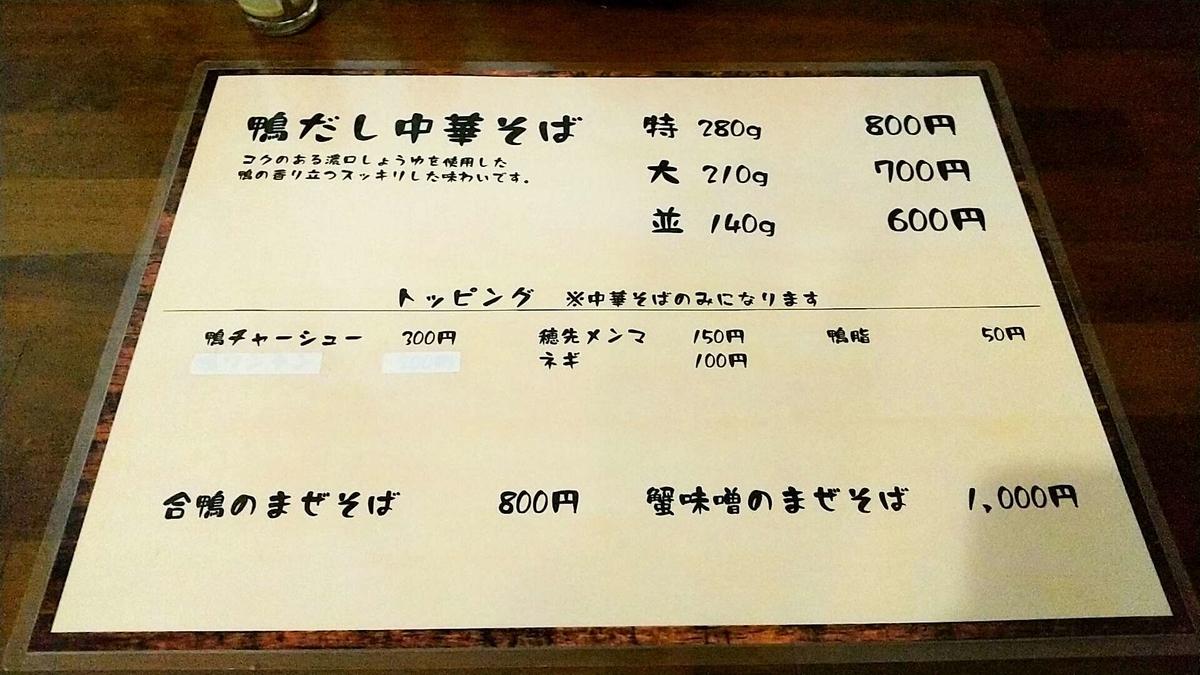大仙市「中華そば今野」のメニュー!