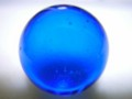 [ガラス][球体]青ビー玉