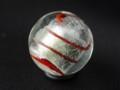 [球体][ガラス]銀彩ビー玉赤縞