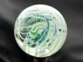 [球体][ガラス]マーブル(白螺旋)