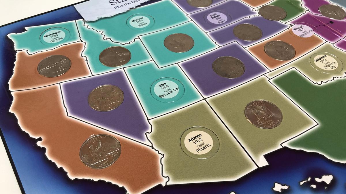 50州25セントプログラムのコインフォルダー