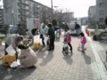 市の給水車による給水