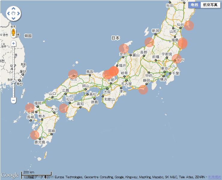 日本 西日本 地図 無料 : ... の原発地図(リアクターズ
