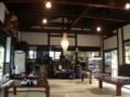 [大子シュッポ]蕎麦屋店内風景。古民家風の解放感ある作り