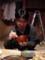 田中さん、栗御飯を食べるの図。