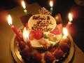 お誕生日会のケーキ!おいしかった~junちゃんありがとね!