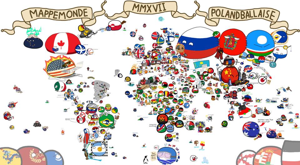 ポーランドボールマップ