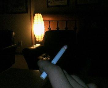 一人タバコ