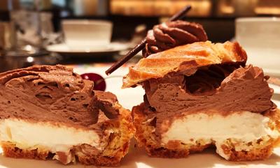 チョコレートとチーズのパリブレスト