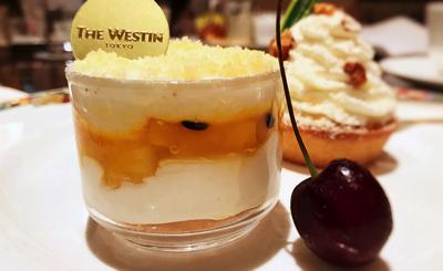 カマンベールクリームとトロピカルフルーツのタンバル