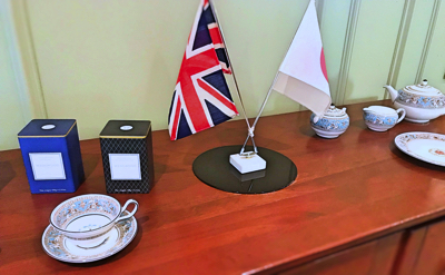 帝国ホテル東京 イギリスを代表する陶磁器メーカー「ウェッジウッド」も飾られていました