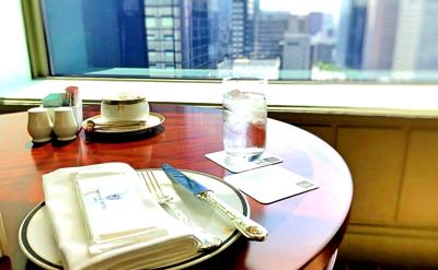 帝国ホテル アフタヌーンティー【おひとりさま】テーブルセットの様子