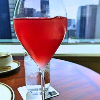 帝国ホテル東京 アフタヌーンティー 一休予約特典のウェルカムドリンク