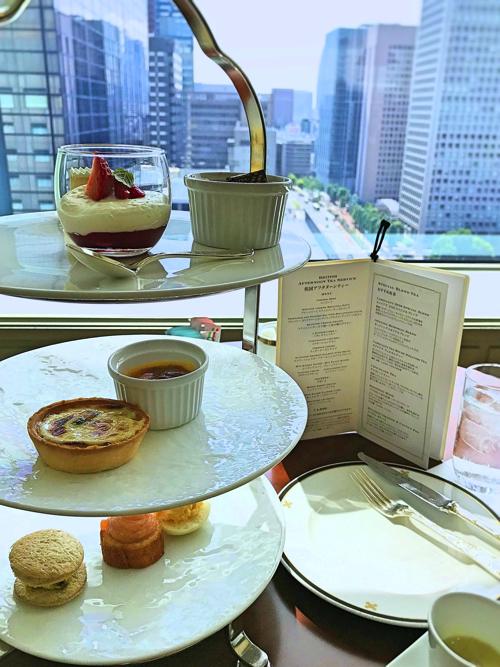 帝国ホテル東京 アクア アフタヌーンティー「英国フェア 三段スタンド」