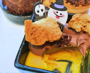 ザ・テラス 2018年10月 デザートブッフェ かぼちゃのフラン ミルクチョコレートクリーム