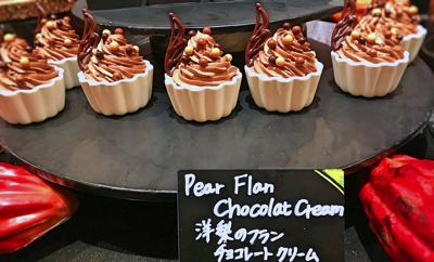 ザ・テラス 2018年10月 デザートブッフェ 洋梨のフラン チョコレートクリーム