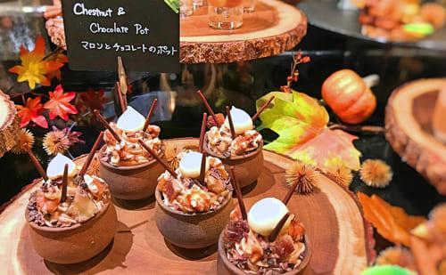 ザ・テラス2018年11月マロンデザートブッフェ マロンとチョコレートのポット