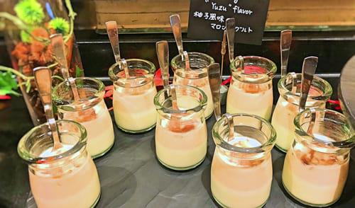 ザ・テラス2018年11月マロンデザートブッフェ 柚子風味のマロンヨーグルト