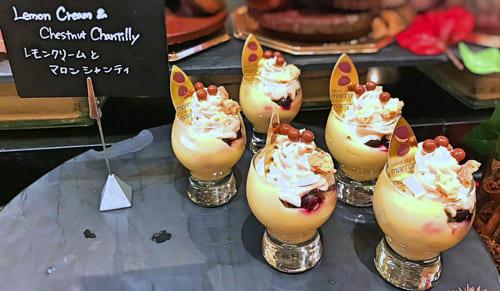 ザ・テラス2018年11月マロンデザートブッフェ レモンクリームとマロンシャンティ