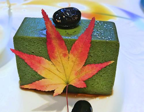 ザ・テラス2018年11月デザートブッフェアトリエコーナー「抹茶と黒豆のプリン」