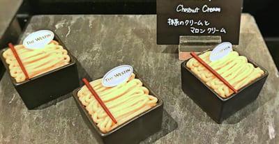 ウェスティンホテル東京 デザートブッフェ 抹茶のクリームとマロンクリーム
