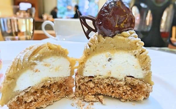 グランドハイアット東京 ケーキ フィオレンティーナ モンテビアンコジャポネーゼの断面写真