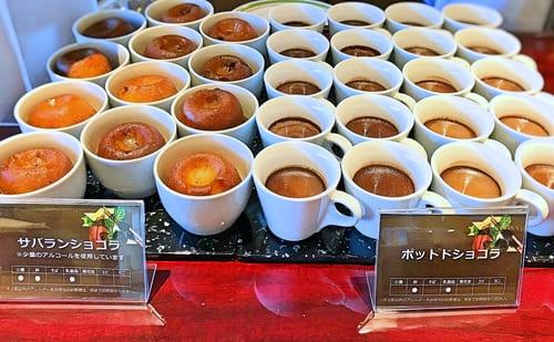 川崎日航ホテル夜間飛行 チョコレートスイーツブッフェ サバラン、ポットドショコラ