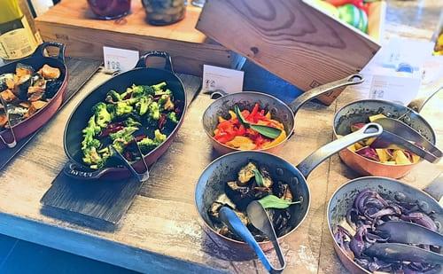 MIXXイタリアンランチブッフェ「カボチャのマリネ、ブロッコリーのマリネ、季節野菜のロースト」