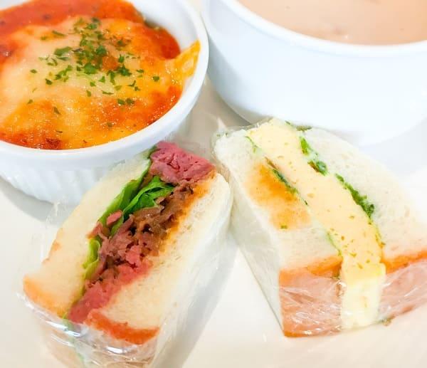 ニューオータニ東京ガーデンラウンジ サンドウイッチ&スイーツビュッフェの食べたお皿