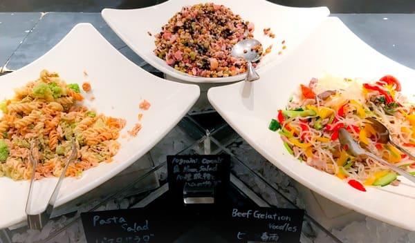 ウェスティンホテル東京 ザ・テラス ディナーブッフェのサラダ3種