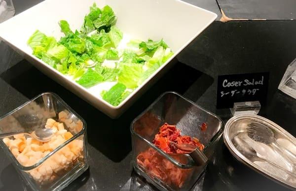 ウェスティンホテル東京 ザ・テラス ディナーブッフェのシーザーサラダ
