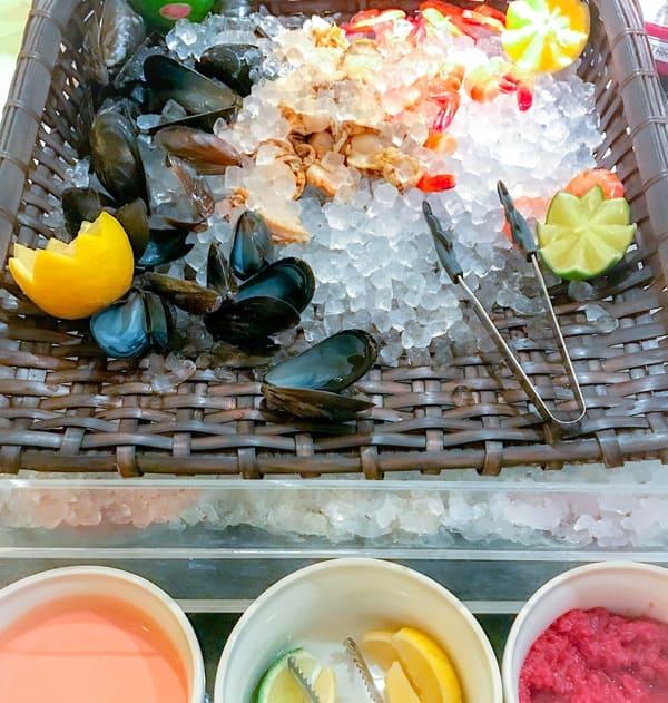 ウェスティンホテル東京 ザ・テラス ディナーブッフェの魚介類