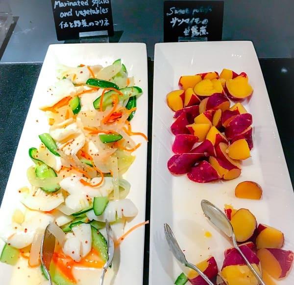 ウェスティンホテル東京 ザ・テラス ディナーブッフェのお芋とイカの冷菜