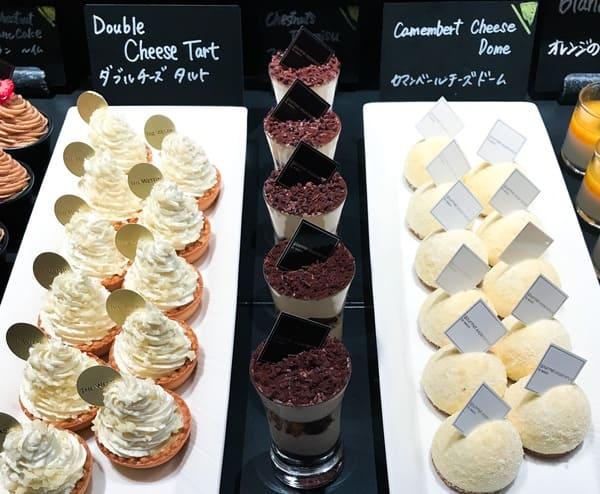 ザ・テラス アトリエコーナー カマンベールチーズドーム、クリスマスティラミス、ダブルチーズタルト