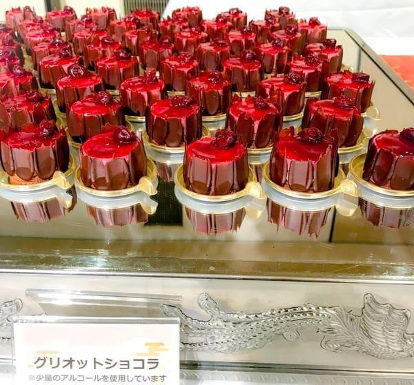 川崎日航ホテル プレミアムスイーツブッフェ ブッフェ台グリオットショコラ