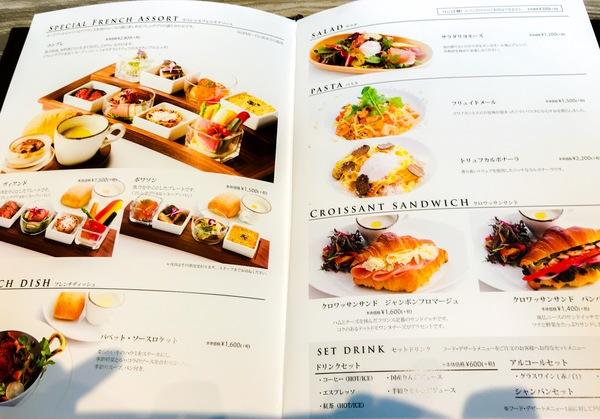銀座 ボンボヌールのメニュー オープンから15時までのスペシャルフレンチアソート2,800円(税抜)とても美味しそう!