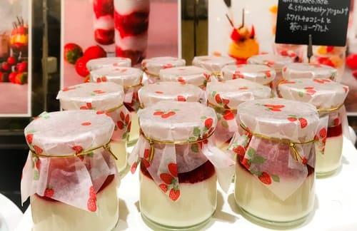 ザ・テラス2019年2月 ストロベリーデザートブッフェ ホワイトチョコレートと苺のヨーグルト