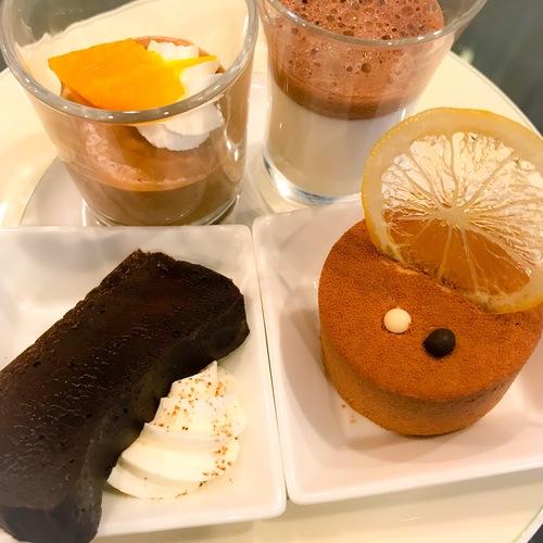 京成ホテルミラマーレ ミレフォリア デザートバイキング 2019年2月 ショコラオランジュ、ジュレショコラ、ショコラテリーヌ、シトロンショコラ