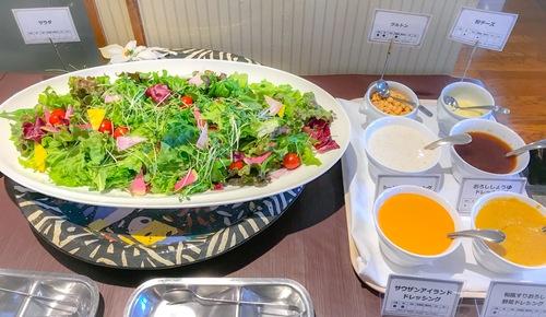川崎日航ホテル 夜間飛行 2019年2月「いちごスイーツブッフェ」ブッフェ台 サラダ