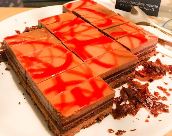 フレンチキッチン ランチブッフェ チェリーチョコレートムース