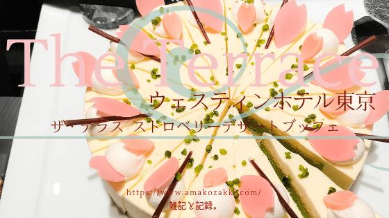 ウェスティンホテル東京 ザ・テラス ストロベリーデザートブッフェ 2019年3月 レビューブログ