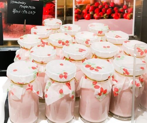 ザ・テラス デザートブッフェ 苺のメープルミルク