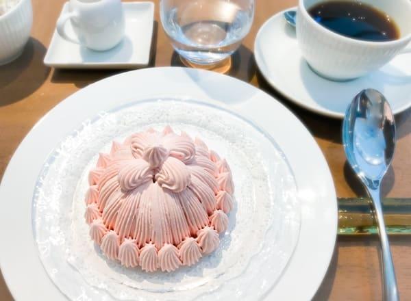 東京會舘 季節のマロンシャンテリー ドリンクセット(コーヒー)
