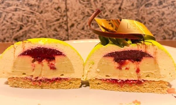 デリーモ ケーキ デュオピスターシュ 断面写真と感想レビューブログ