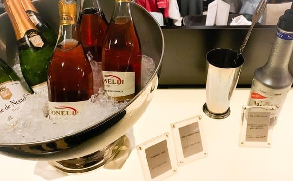 横浜ベイホテル東急 ソマーハウス ナイトタイム・デザートブッフェ フリーフローのアルコール種類写真